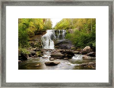 October At Bald River Falls Framed Print