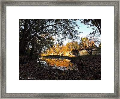 October At The Pillars Framed Print by Regine Brindle