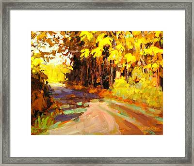 October Framed Print by Brian Simons