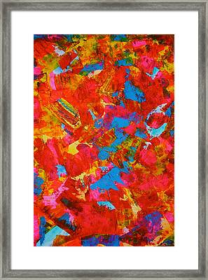 Framed Print featuring the painting October Canopy Overhead by Polly Castor