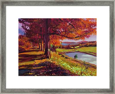 October Country Road - Plein Air Framed Print