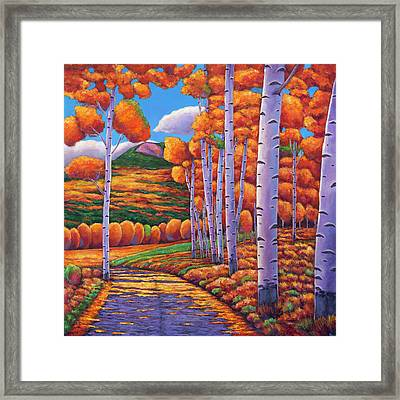 October Enclave Framed Print