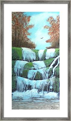 October Falls Framed Print