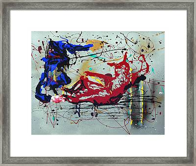 Framed Print featuring the painting October Fever by J R Seymour