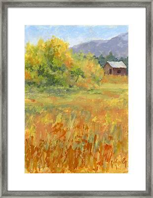 October Field Framed Print by David King