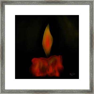 Framed Print featuring the painting October Flame by Kevin Caudill