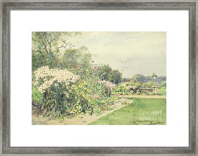 October Flowers Framed Print