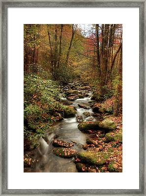October Flowing Through The Smokies Framed Print by Mike Eingle