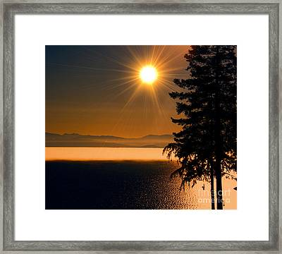 October Fog Framed Print