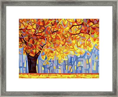 October Gold Framed Print