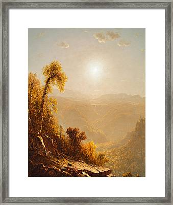 October In The Catskills Framed Print by Sanford Robinson Gifford