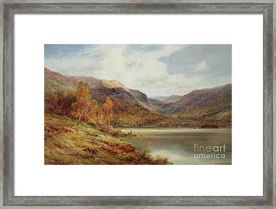 October In The Highlands Framed Print by Alfred de Breanski