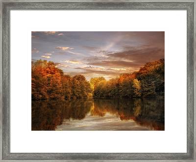 October Lights Framed Print by Jessica Jenney