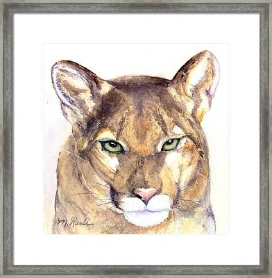 October Lion Framed Print