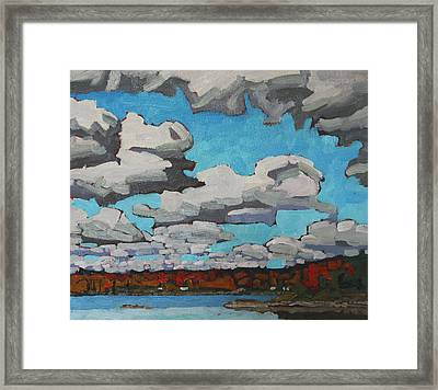 October Midday Sky Framed Print