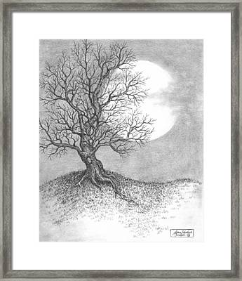 October Moon Framed Print by Adam Zebediah Joseph