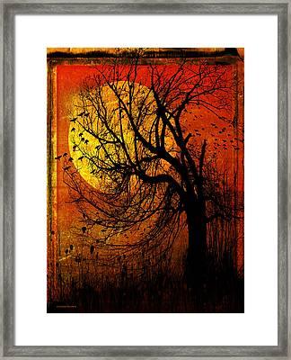 October Moon Framed Print by Ron Jones