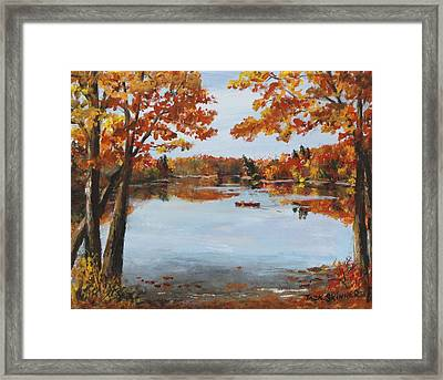 October Morn At Walden Pond Framed Print