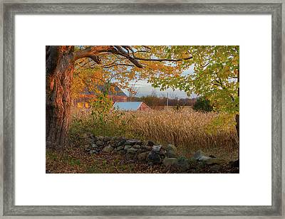 Framed Print featuring the photograph October Morning 2016 by Bill Wakeley
