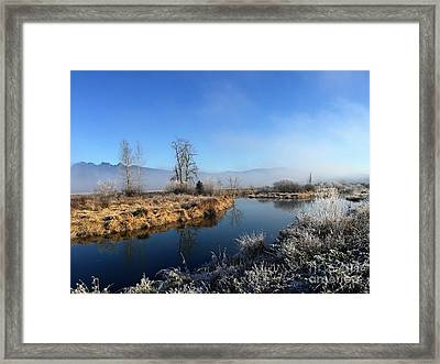 Framed Print featuring the photograph October Morning by Victor K