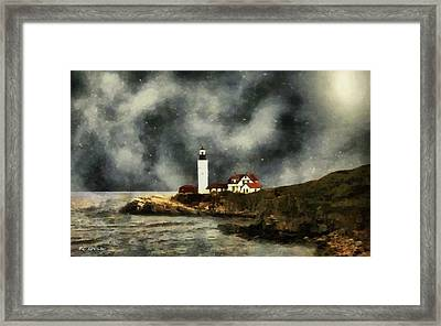 October Night, Portland Head Framed Print