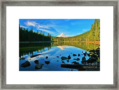 October On The Lake Framed Print