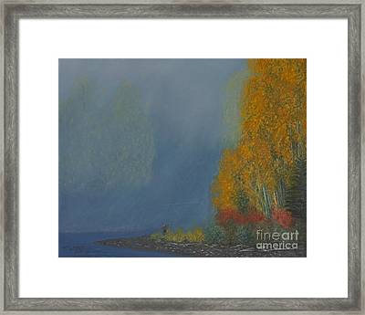October On The River Framed Print