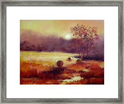 October Pasture Framed Print by Ginger Concepcion