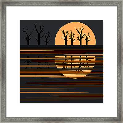 October Pond II Framed Print by Val Arie