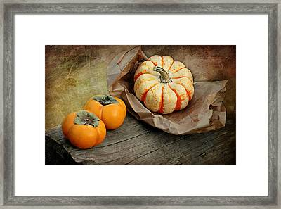 October Produce Framed Print
