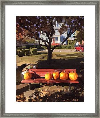 October Pumpkins Framed Print