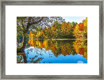 October Reflection Framed Print by Laurie Breton