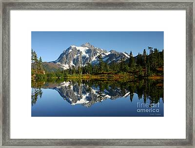 October Reflection Framed Print