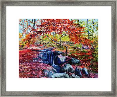 October Riot Framed Print