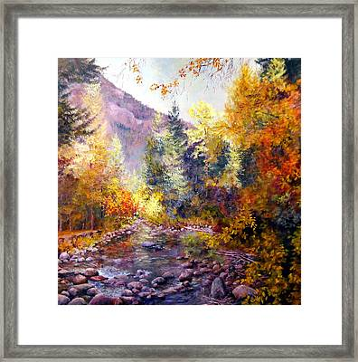October River Framed Print