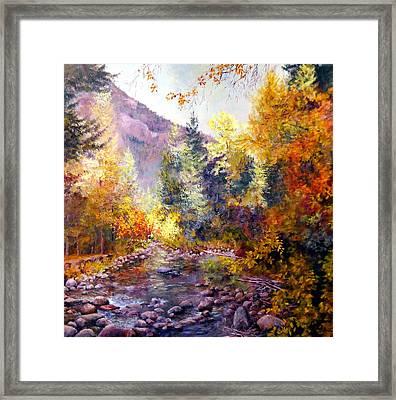October River Framed Print