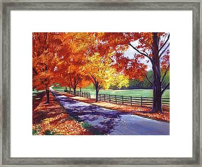 October Road Framed Print