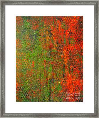 October Rust Framed Print by Jacqueline Athmann