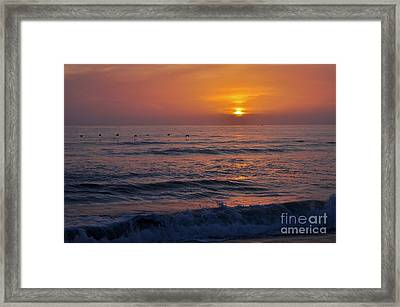 October Set Framed Print