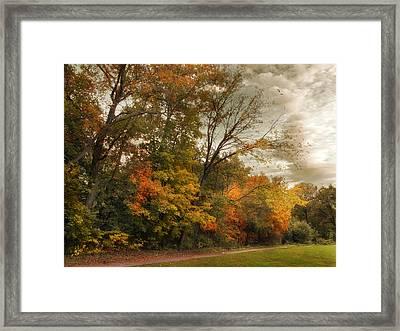 October Skies  Framed Print by Jessica Jenney