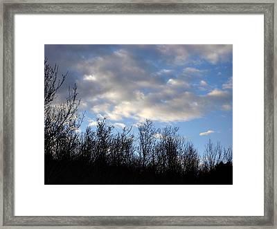 October Skies Framed Print by Marilynne Bull