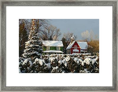 October Snow Framed Print