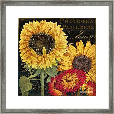 October Sun I Framed Print by Mindy Sommers