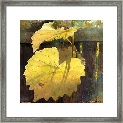 Framed Print featuring the painting October Sunday by Andrew King