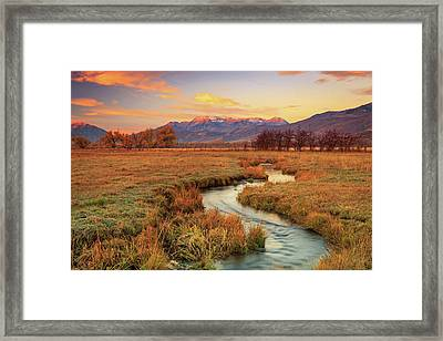 October Sunrise In Heber Valley. Framed Print