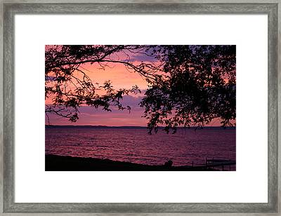 Framed Print featuring the photograph October Sunrise On Winnebago by Jack G  Brauer