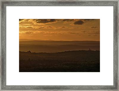 October Sunset In Acadia Framed Print