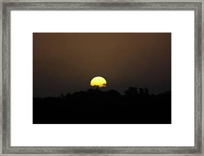 October Sunset Framed Print by Peter Hill