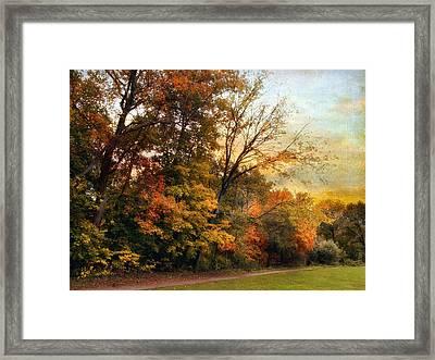 October Trail Framed Print by Jessica Jenney