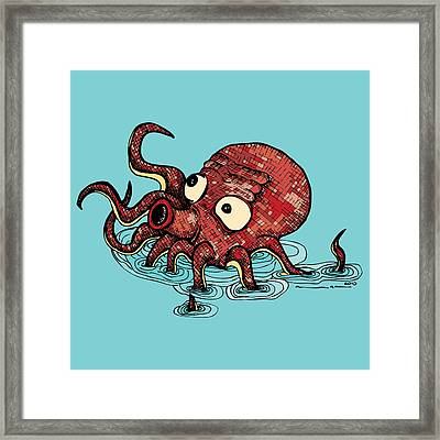 Octopus - Color Framed Print by Karl Addison